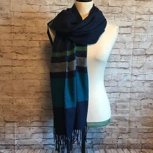 Large navy scarf